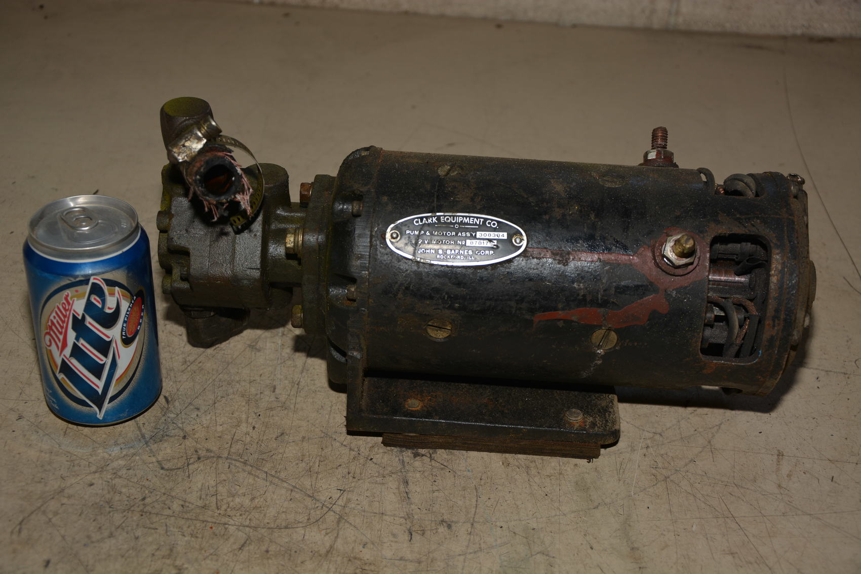 clark lift truck 12v dc hydraulic pump motor and hydraulic