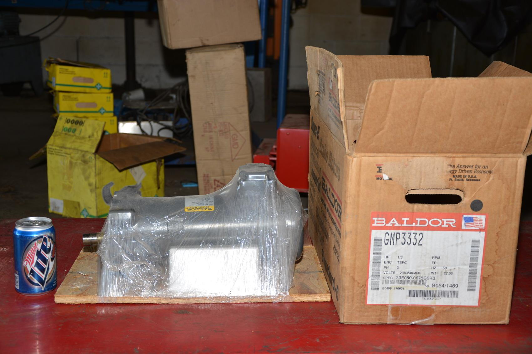New baldor gmp3332 1 3 hp 3 60 208 230 460v ac gear motor for Baldor gear motor catalog
