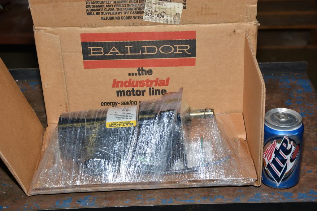 New baldor gpp12543 hp dc gear motor 90vdc 20 1 for Baldor gear motor catalog