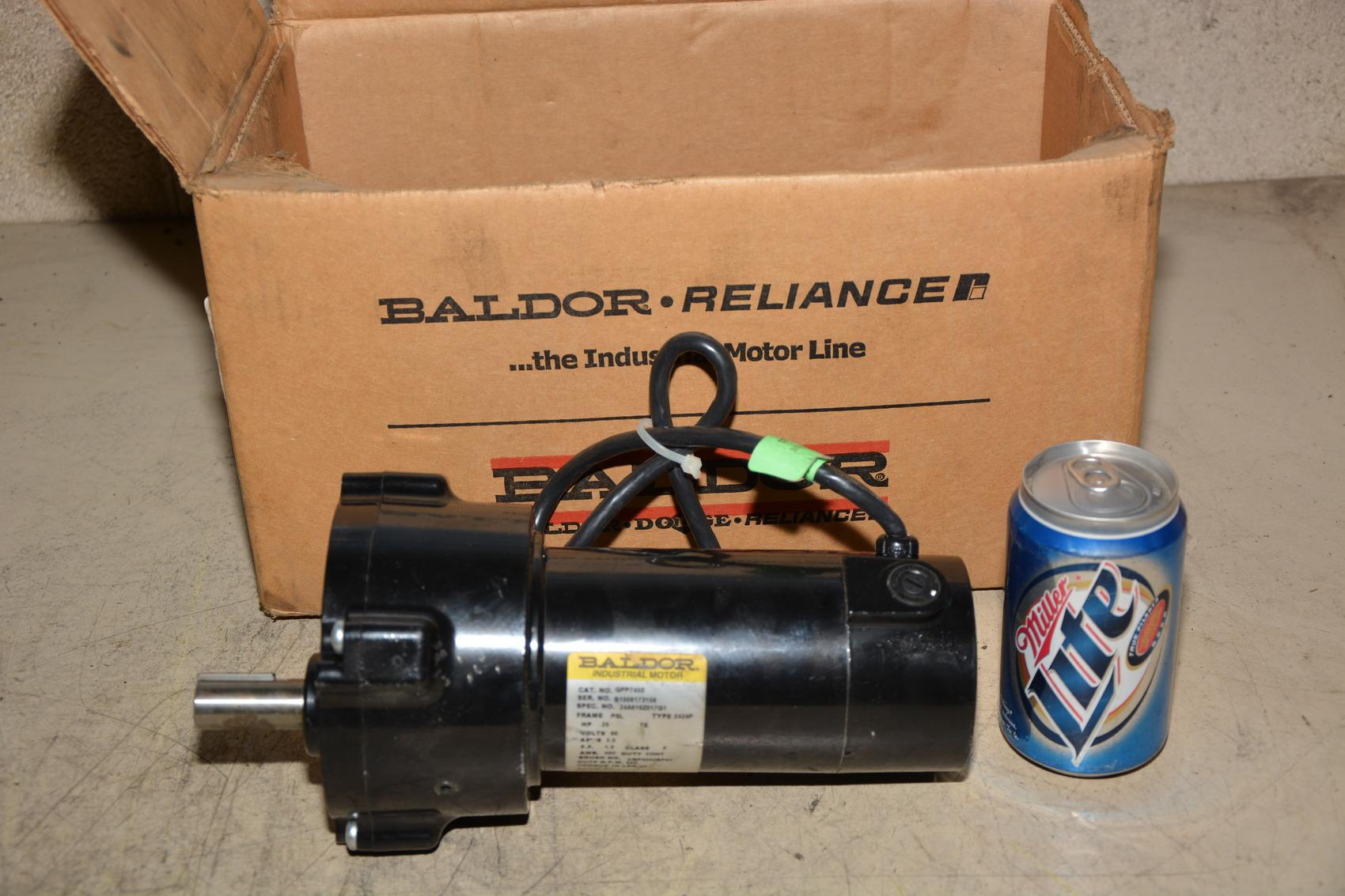 New baldor gpp7450 hp dc gear motor 5 1 ratio 500 for Gear motor 500 rpm
