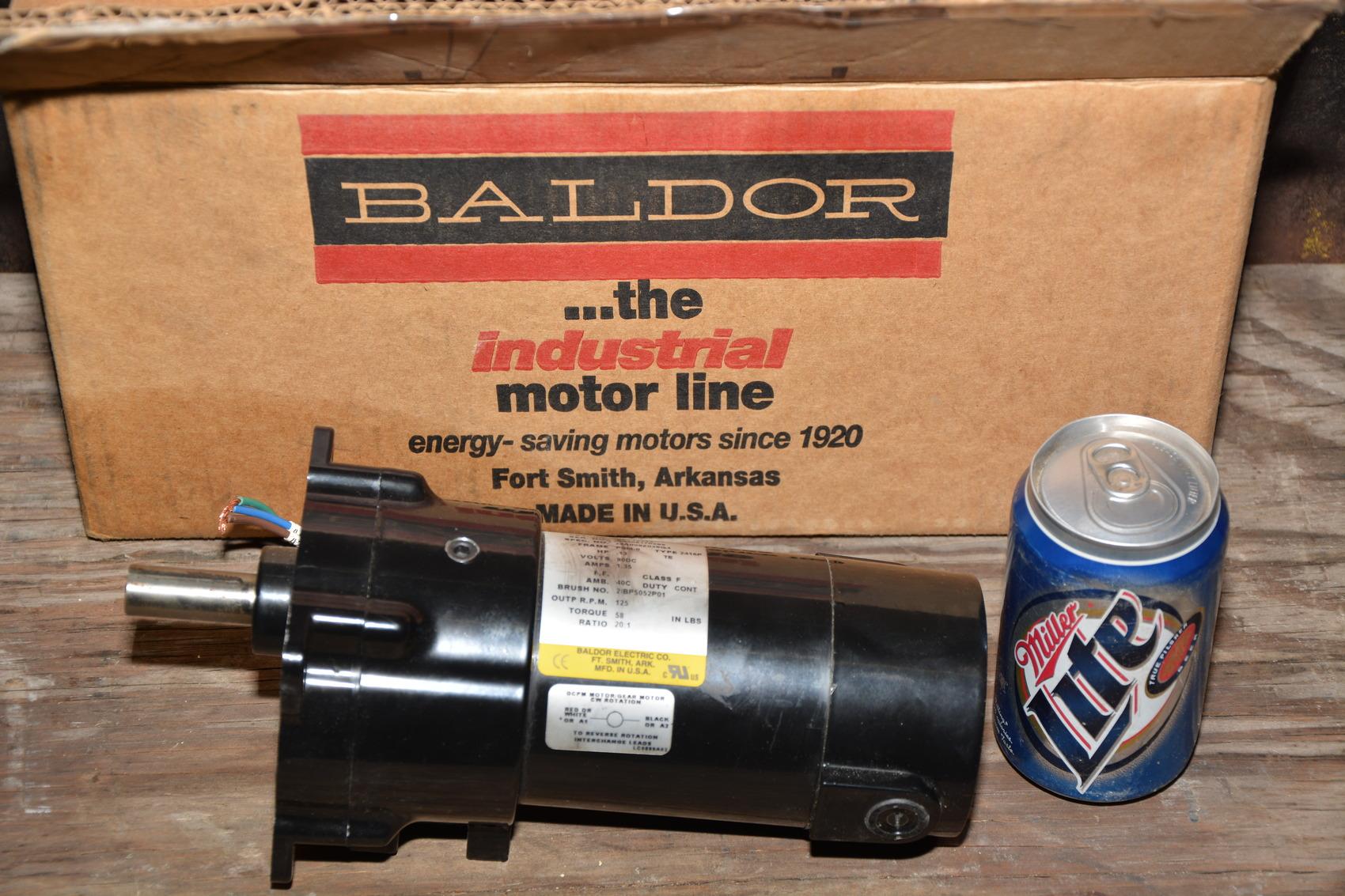 New baldor ctalog no gpp12543 hp dc gear motor 20 1 for Baldor gear motor catalog