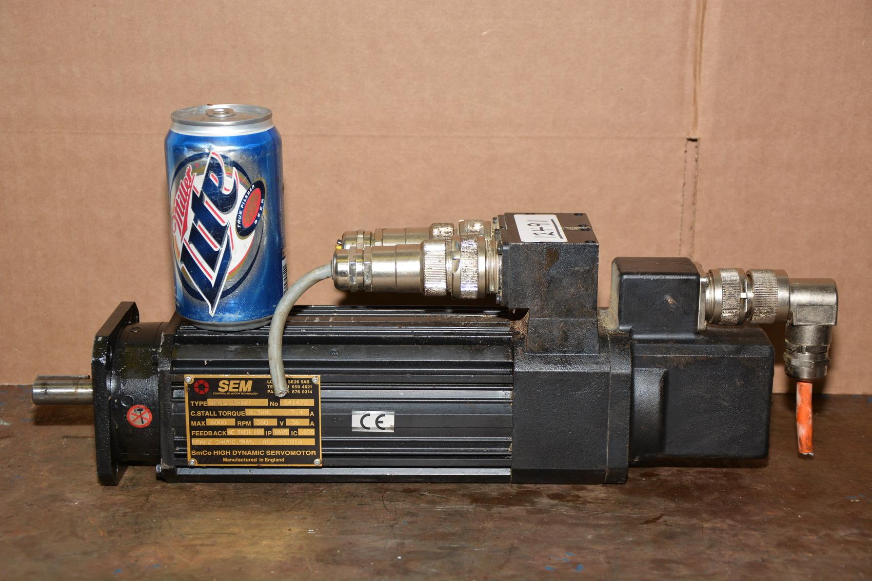 Sem type hd92l4 64t ac servo motor with brake 6 000 rpm for 6000 rpm ac motor