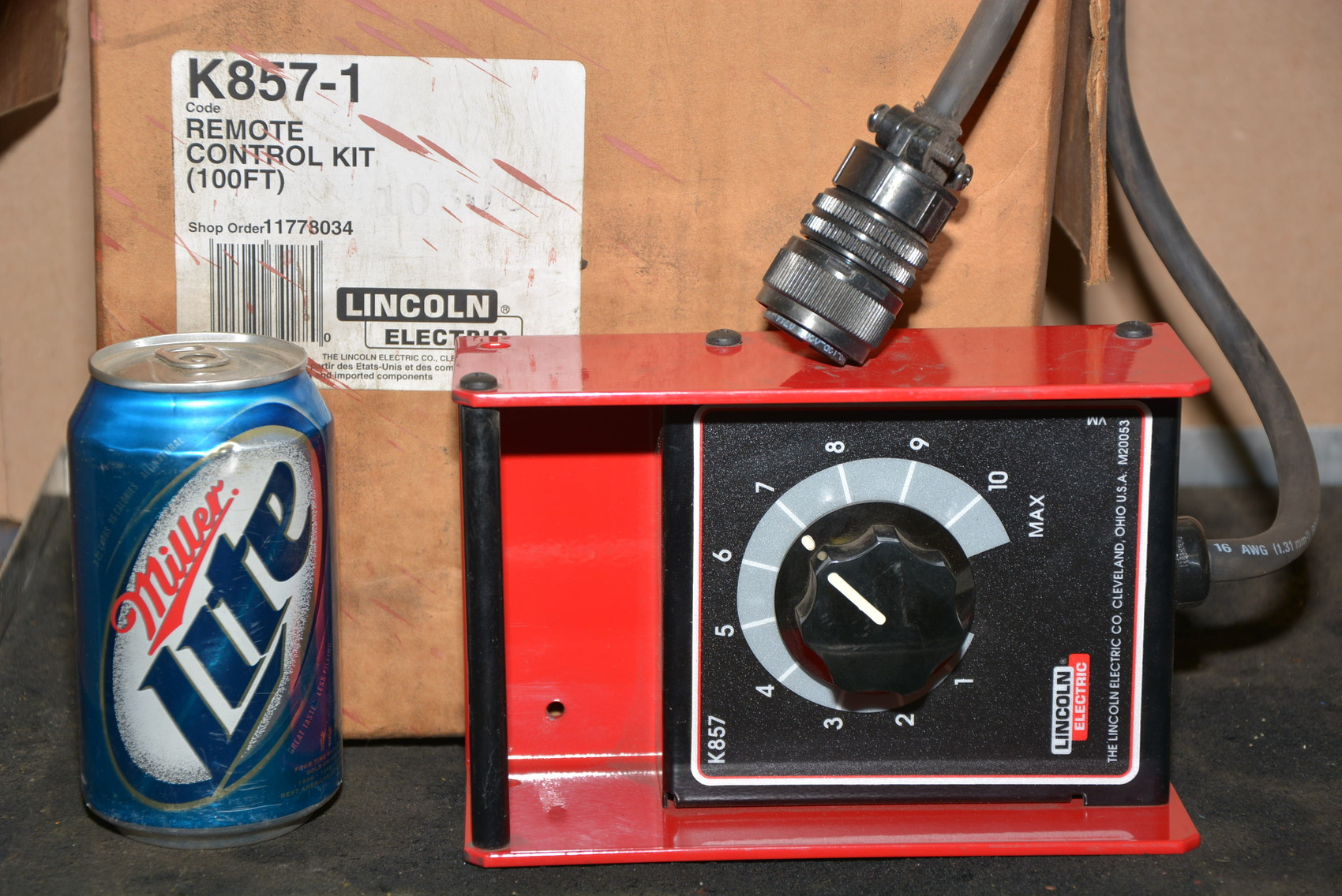 New Lincoln Electric Model K857 Welder Current Remote Control