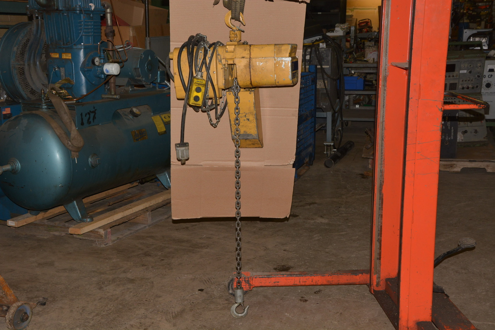 Acco Wright Way 1 2 Ton Electric Chain Hoist W Trolley