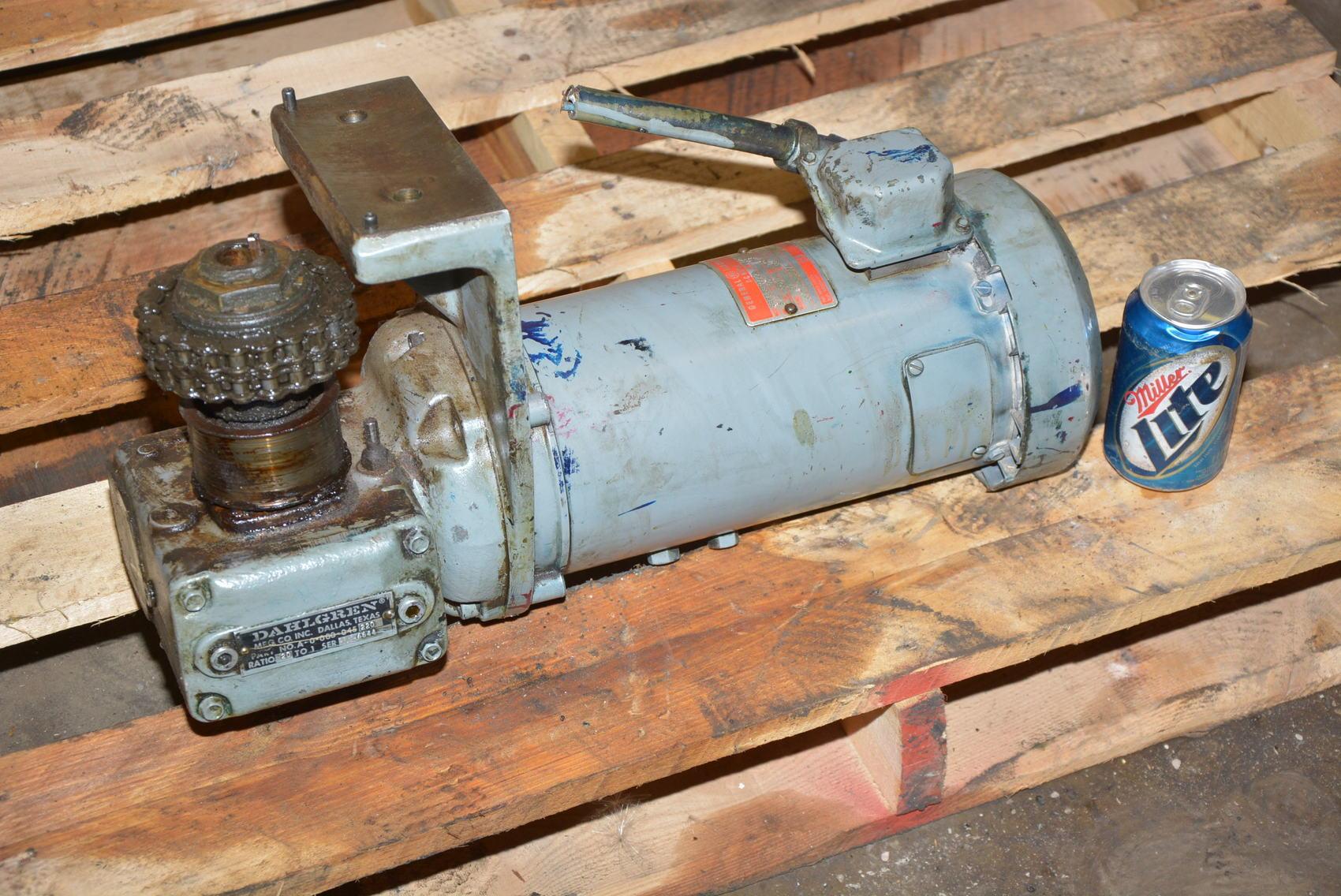 General electric gearmotor 20 1 3 4 hp 90v dc dahlgren for 3 4 hp electric motor