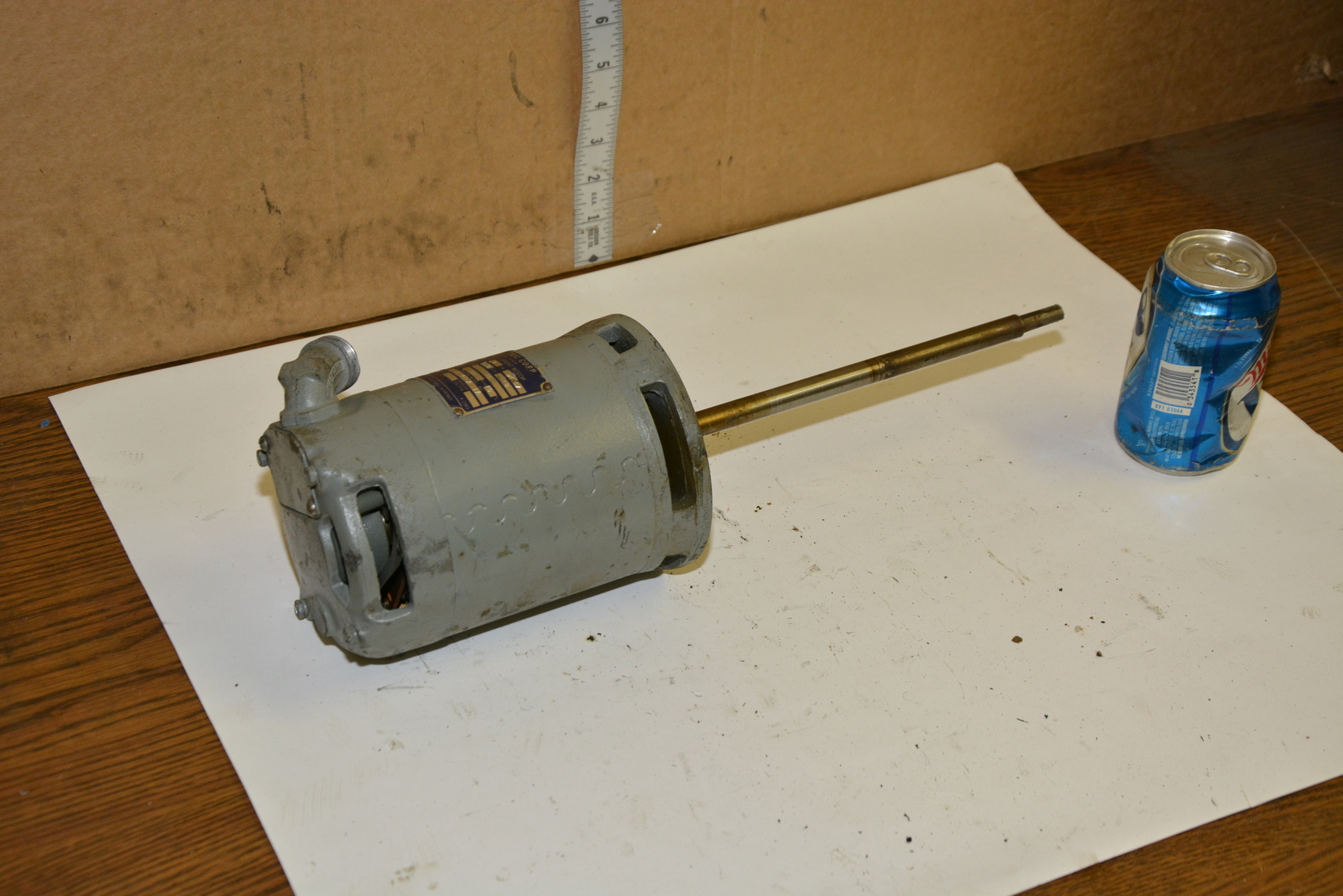 doerr electric single phase motor 1 20 hp for a mixer or