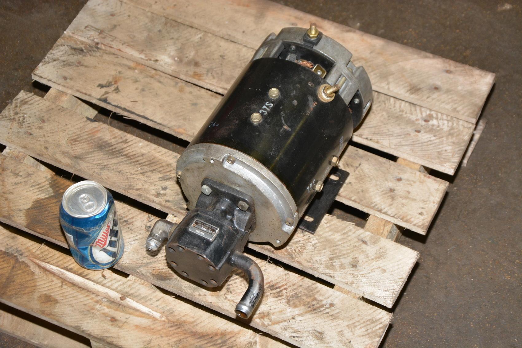 John s barnes hydraulic pump with raymond 36vdc dc for Electric motor hydraulic pump