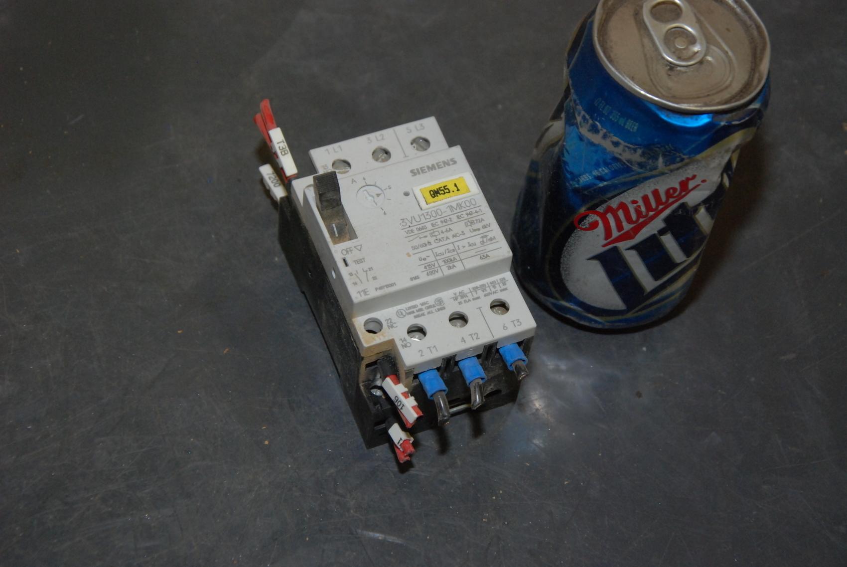 Siemens 3VU1300-1MK00 Contactor;up to 20 Hp;