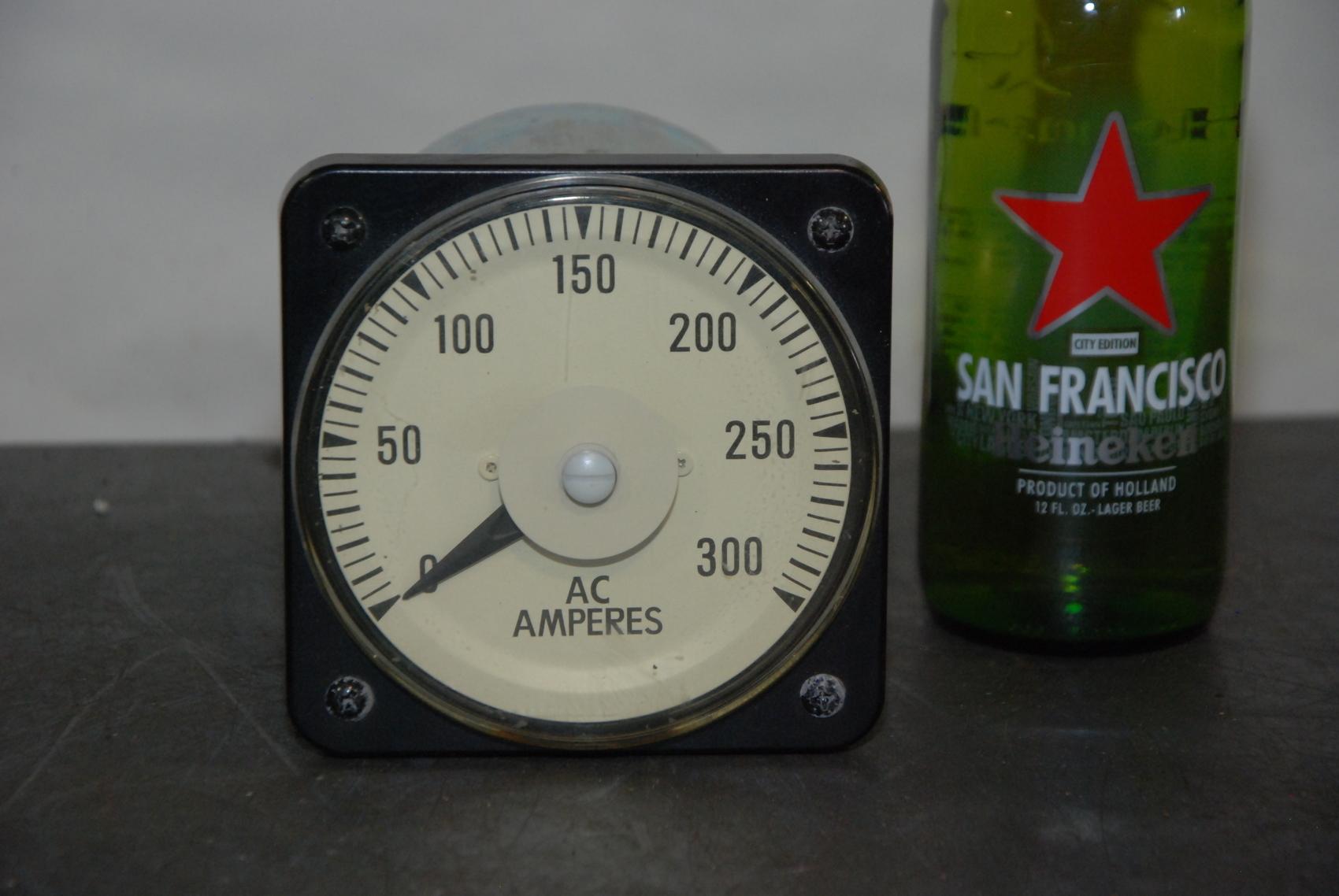 GE YOKOGAWA CAN PANEL METER 103131LSRX 0-300 AC AMPERES