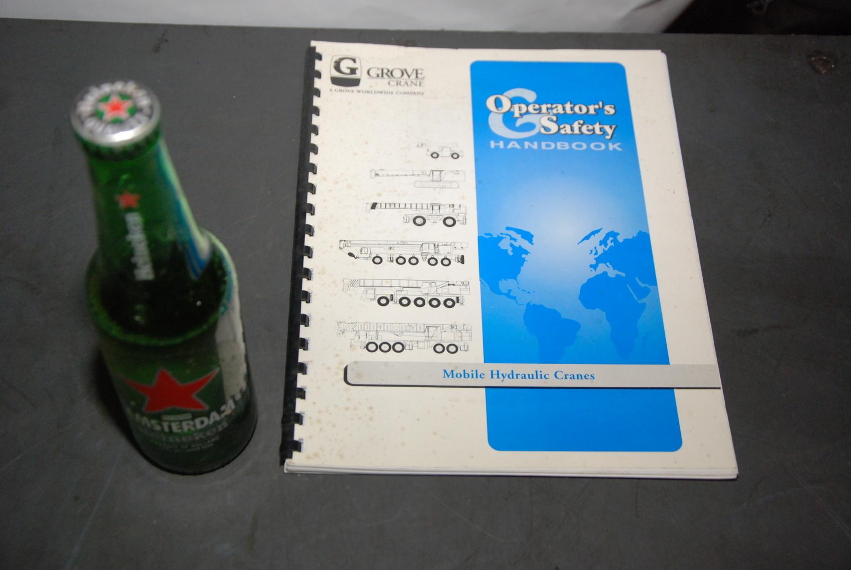 GROVE RT700E Series Crane operators and safety handbook manual nopl