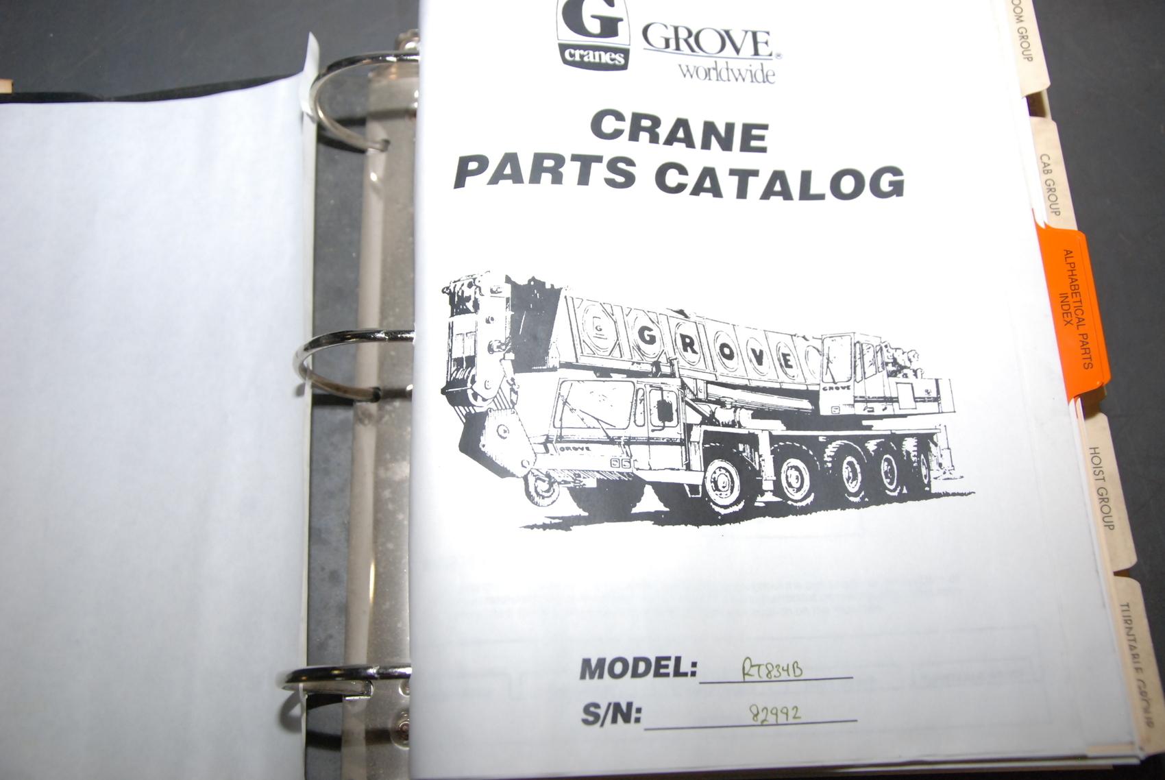 GROVE RT834B Crane parts manual nopl
