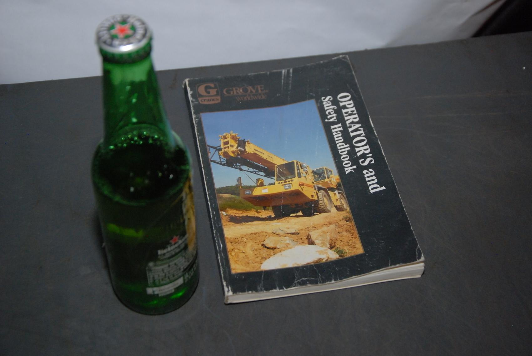 GROVE RT600C Crane operators handbook manual nopl