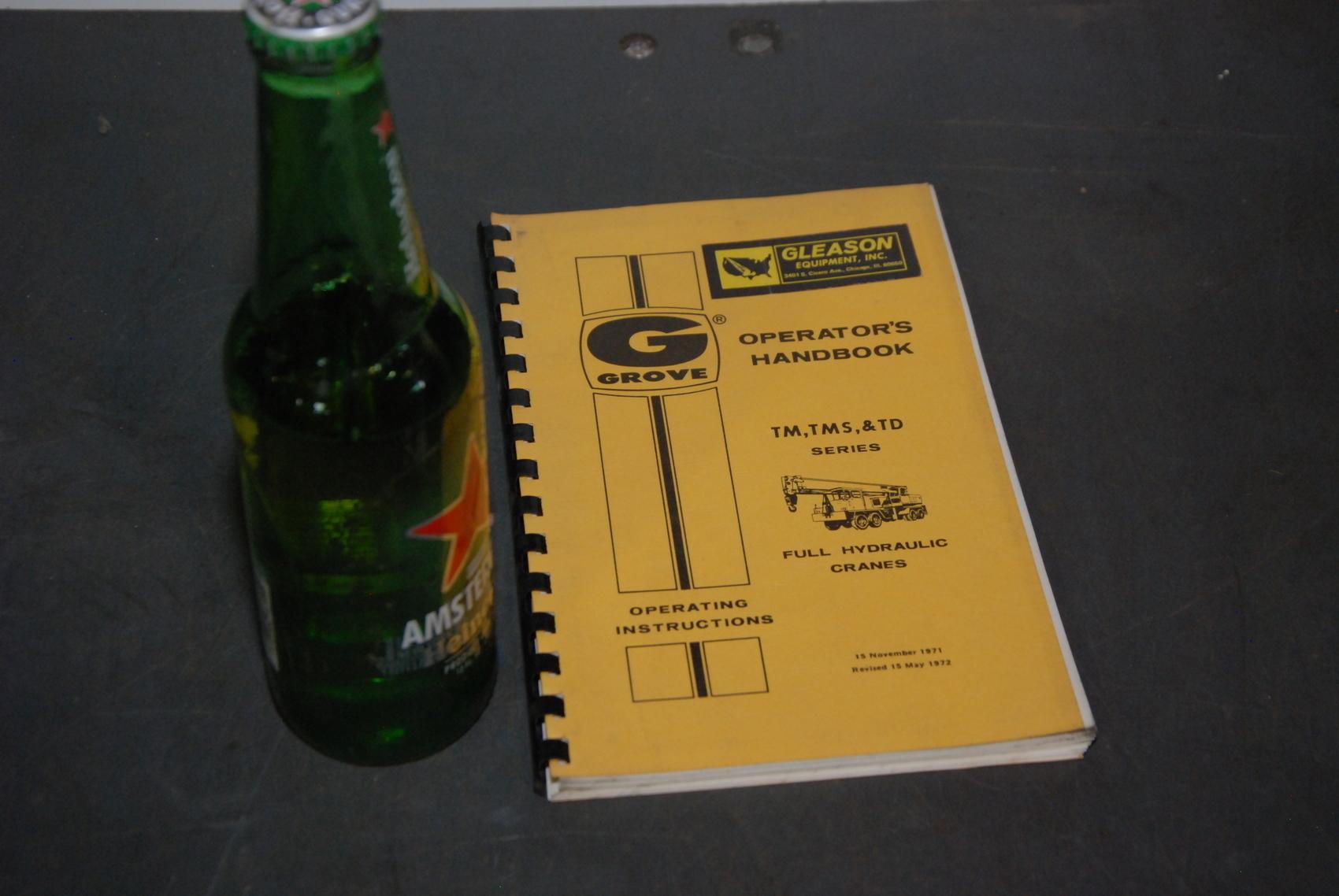 GROVE TM,TMS,TD series Crane operators handbook manual nopl