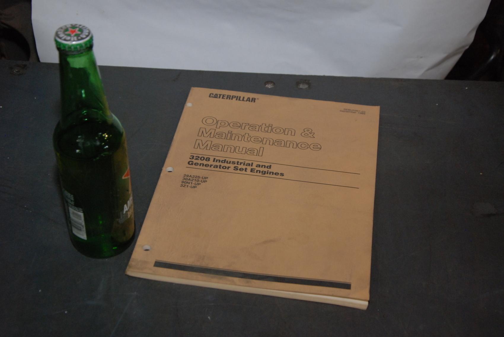Caterpillar 3208 Engines maintenance manual nopl