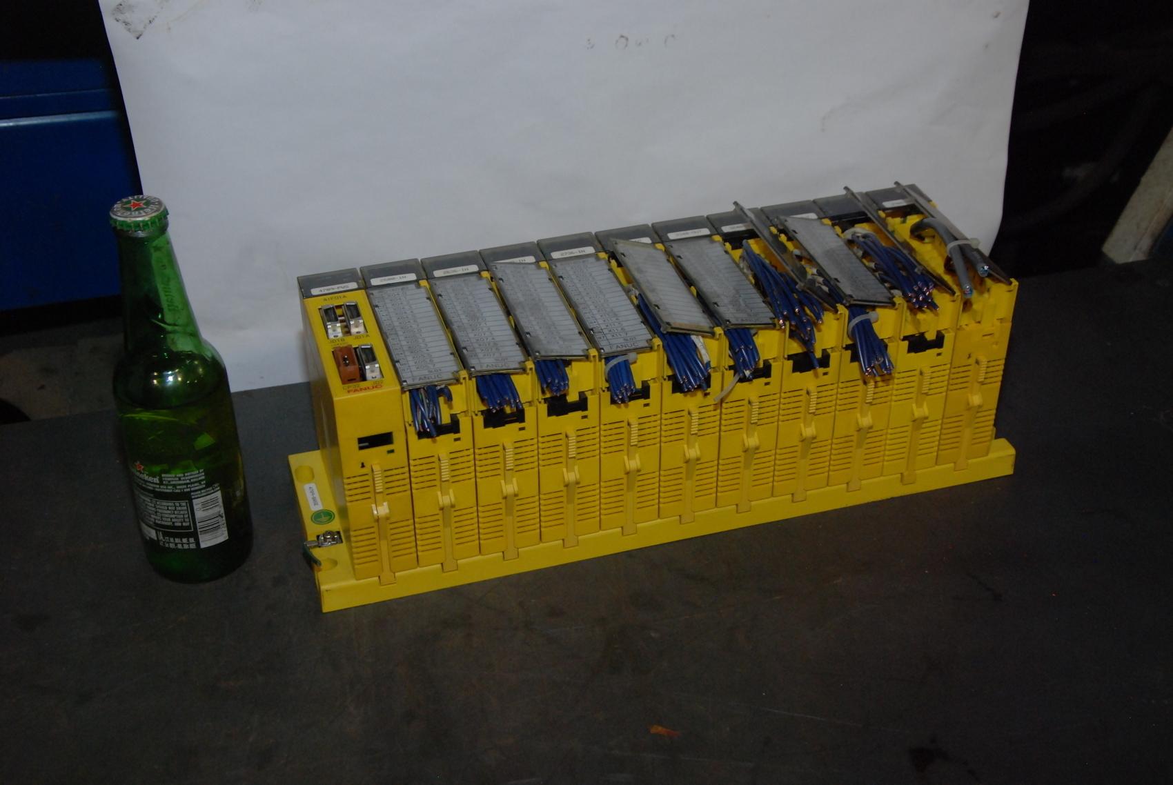 Fanuc PLC;A03B-0807-C011 I/O INTERFACE MODULE+10 I/O modules