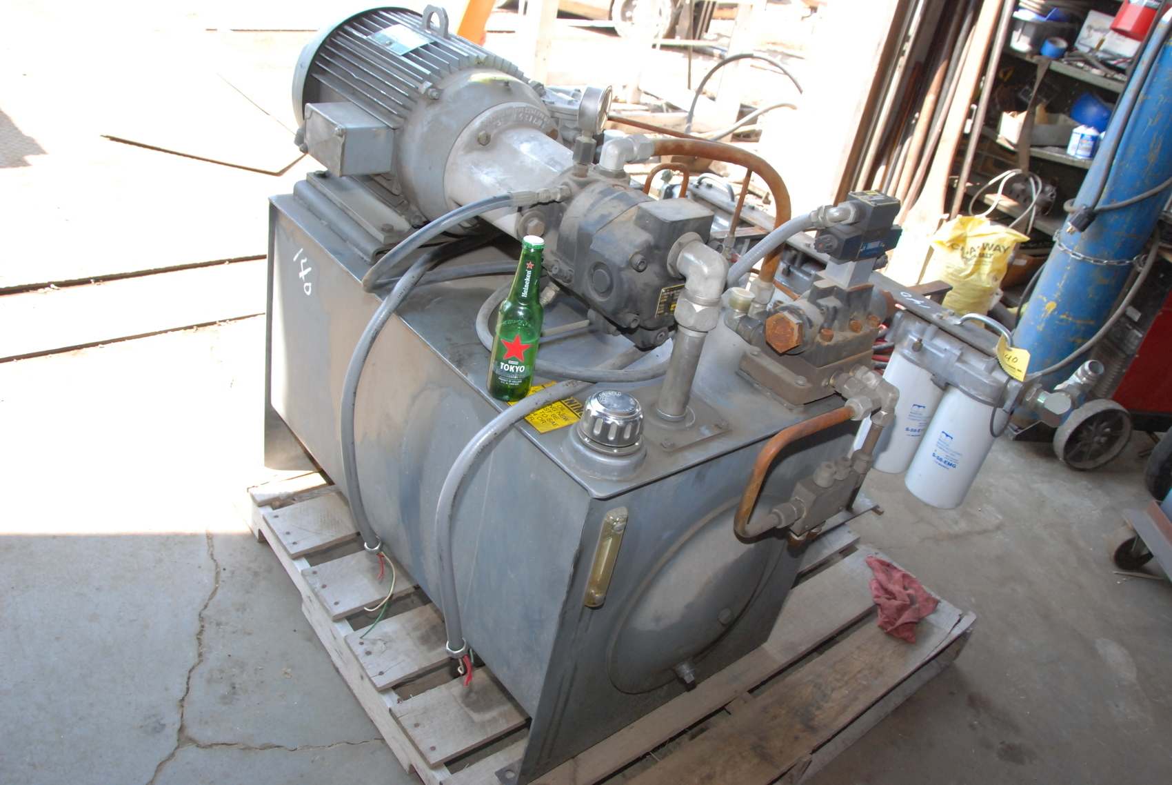 Parker PAVC65RH11 Hydraulic unit w/Lincoln 20HP electric motor