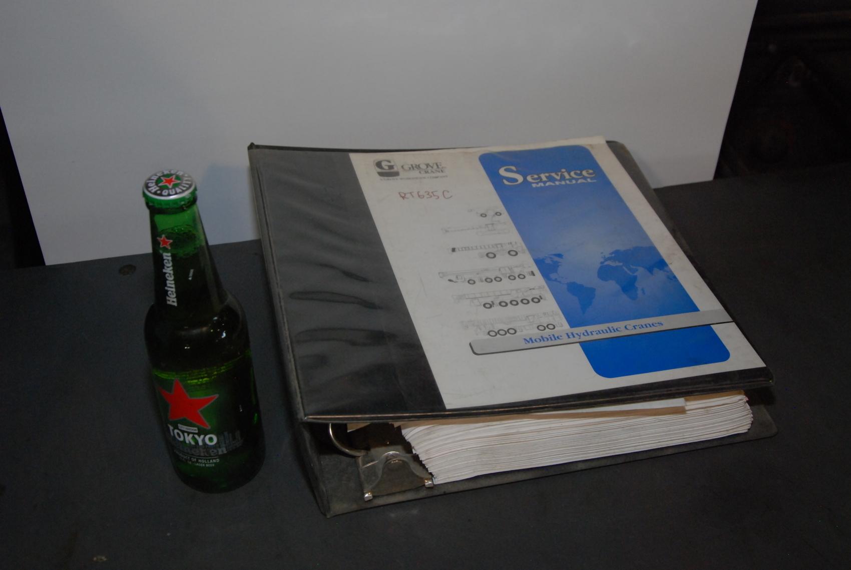 GROVE RT635C Crane maintenance packages manual nopl