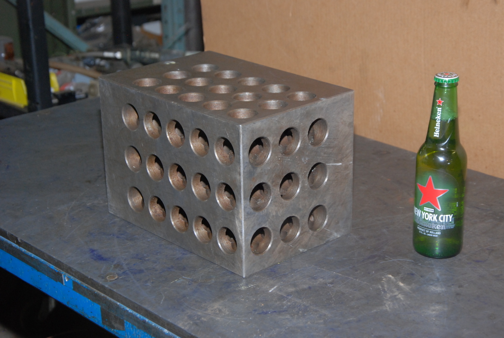 """HUGE!! MACHINISTS SET UP 1-2-3 BLOCK;11x7.5x7.5"""";holes:1-5/16""""and 1/2"""""""