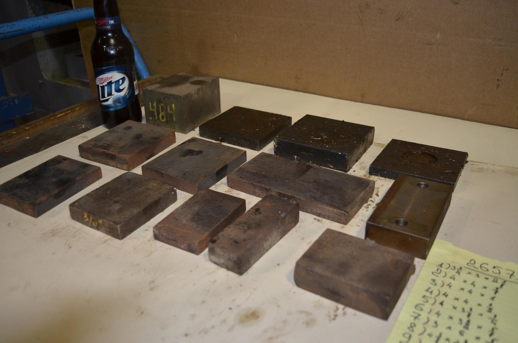 Lot of 13 steel Rectangular Bar for blacksmith anvil,38 lbs