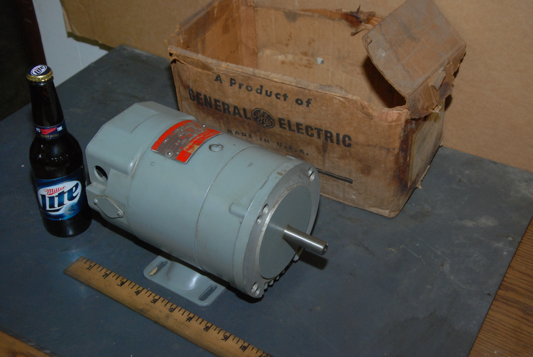 NEW General Electric 1/3HP DC Statotrol Motor;1725RPM;6VFM1033B561A1