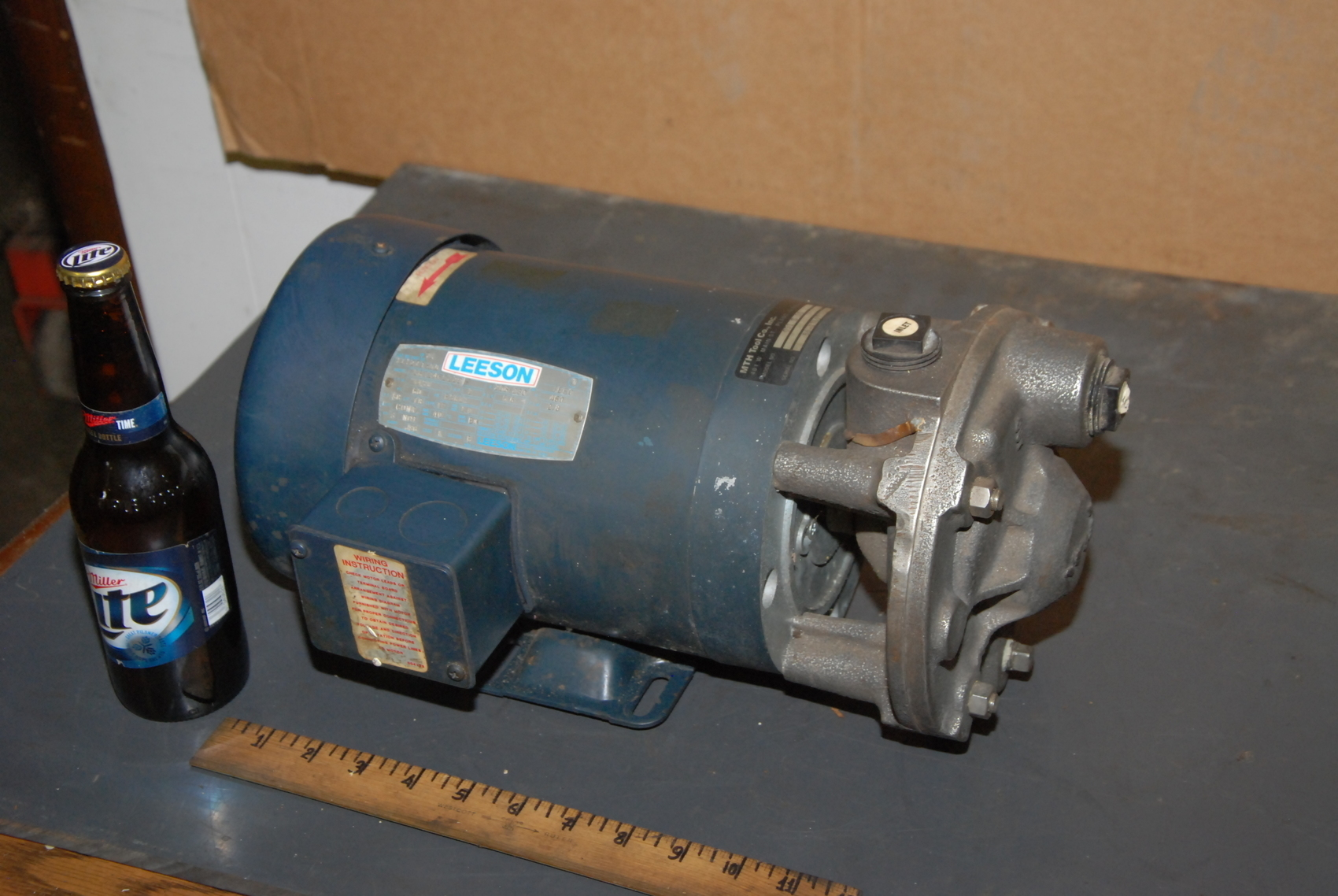 MTH 051 E SS pump;w/Leeson 2HP Electric Motor;3Phase;3450RPM