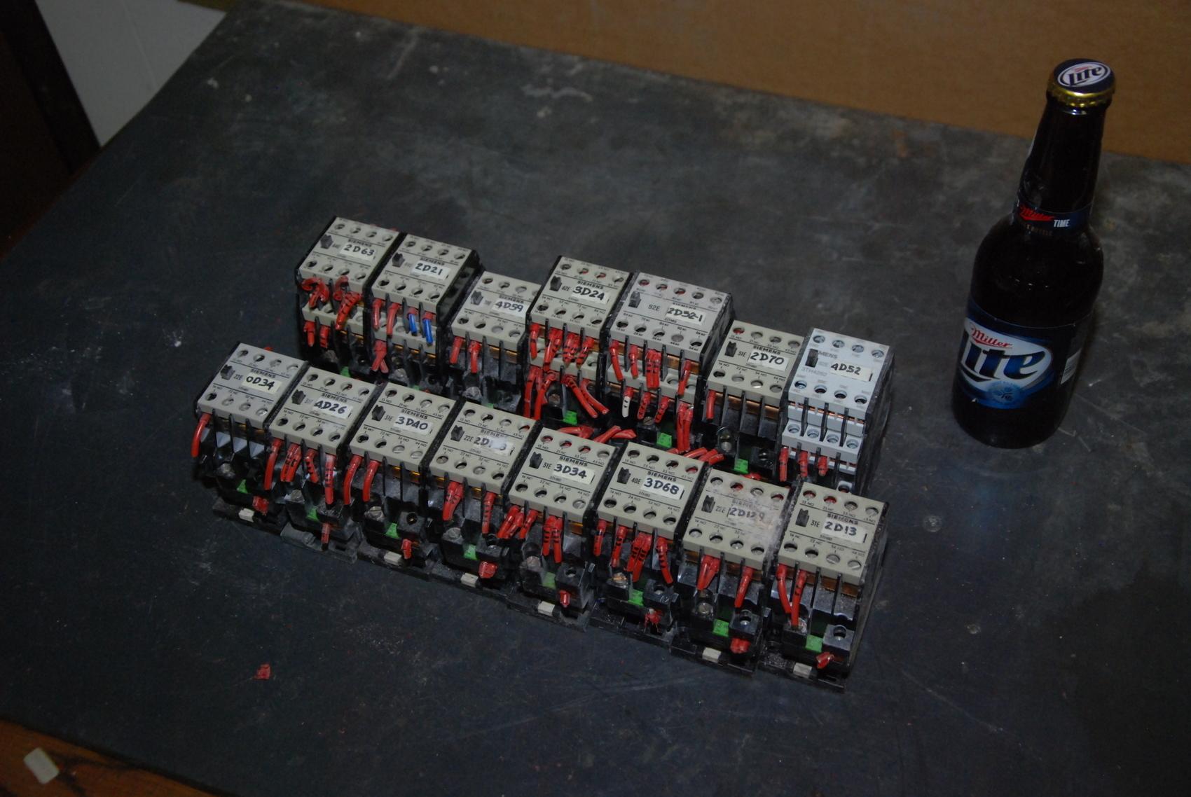 Lot of 15 Siemens Industrial Contactors