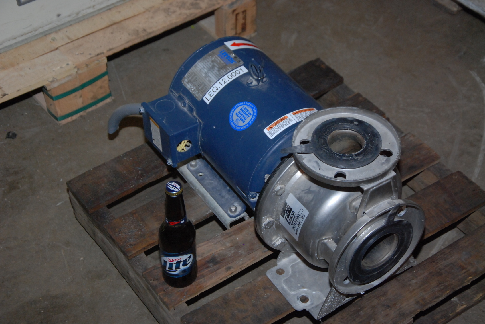 Ebara 7.5hp A3U-50-12575D3C STAINLESS END SUCTION CENTRIFUGAL PUMP;