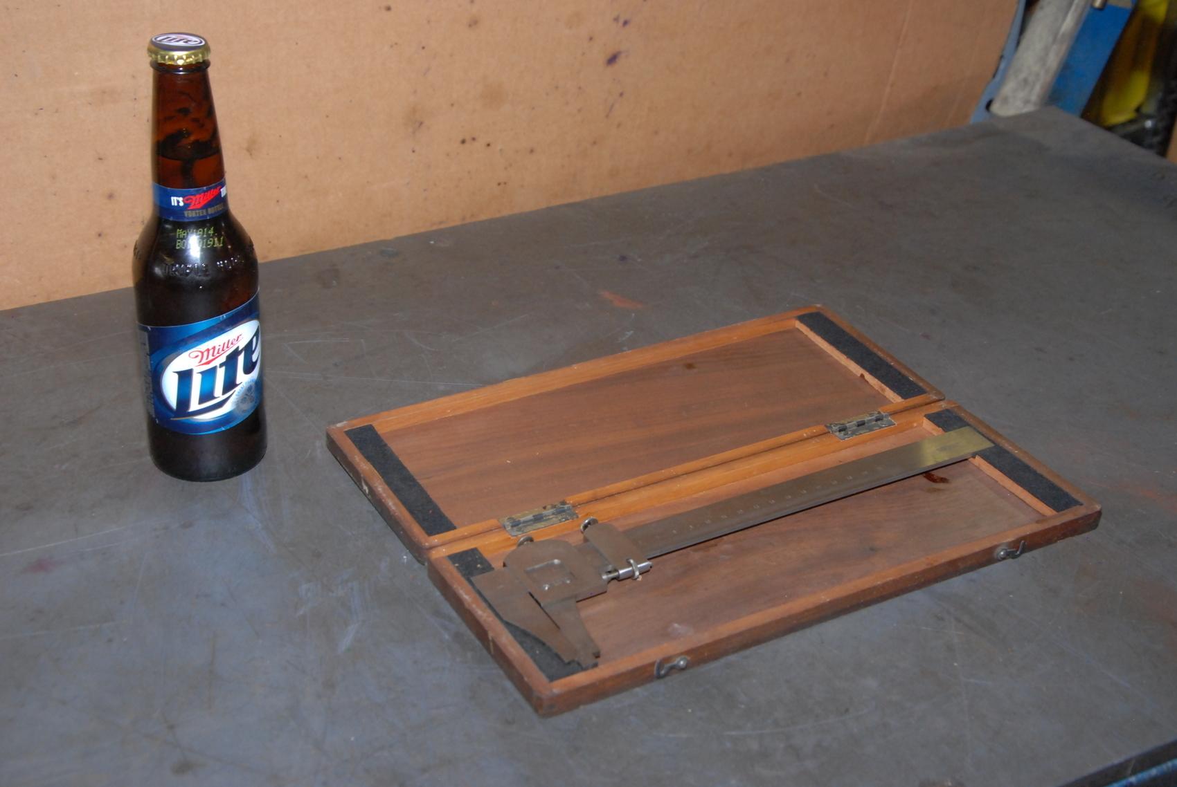 Vintage Jansson Gage Co 21cm metric Vernier Caliper in wooden case
