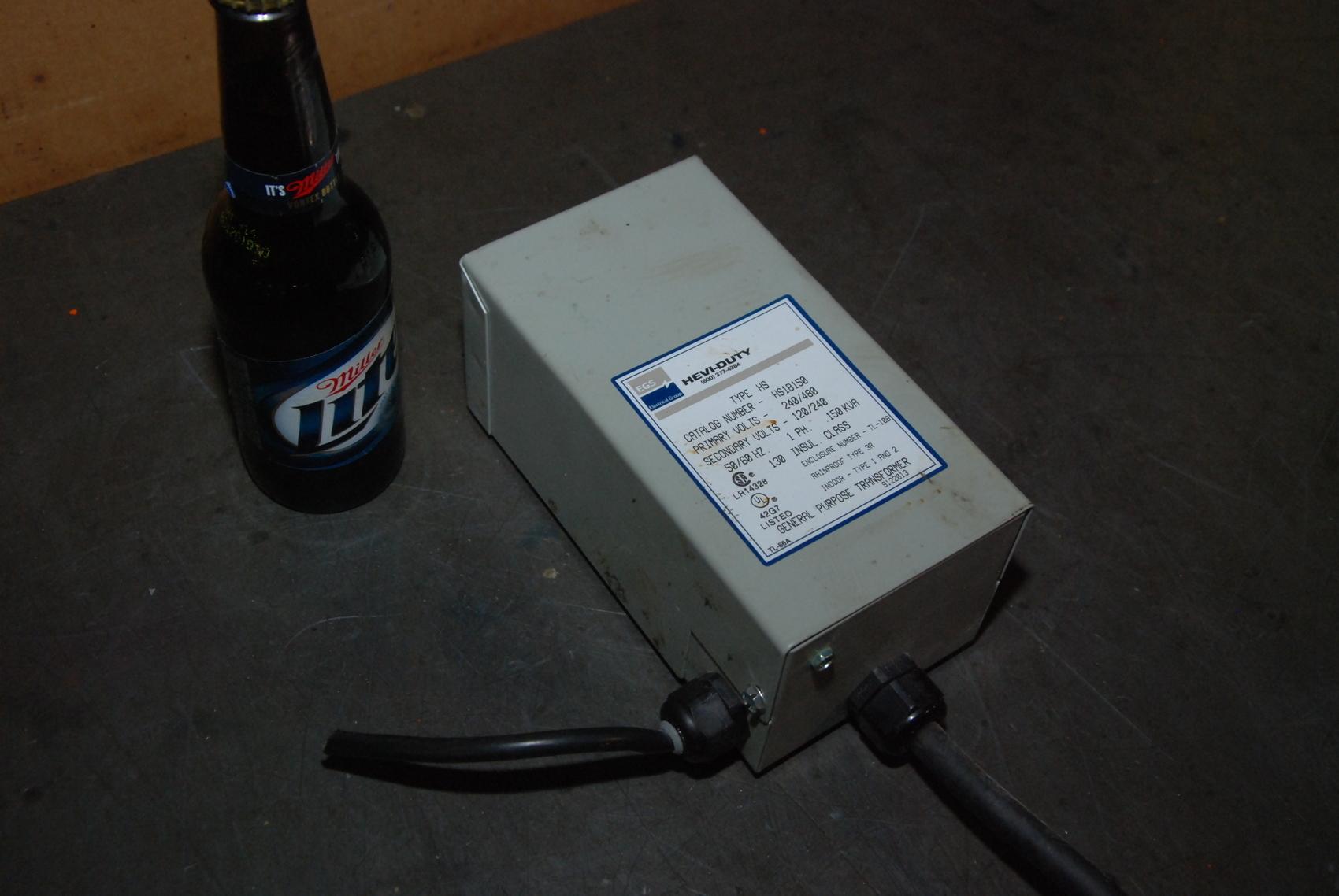 EGS Hevi-Duti HS1B150 transformer;0.15KVA;pr:240/480Vac,sec:120/240V