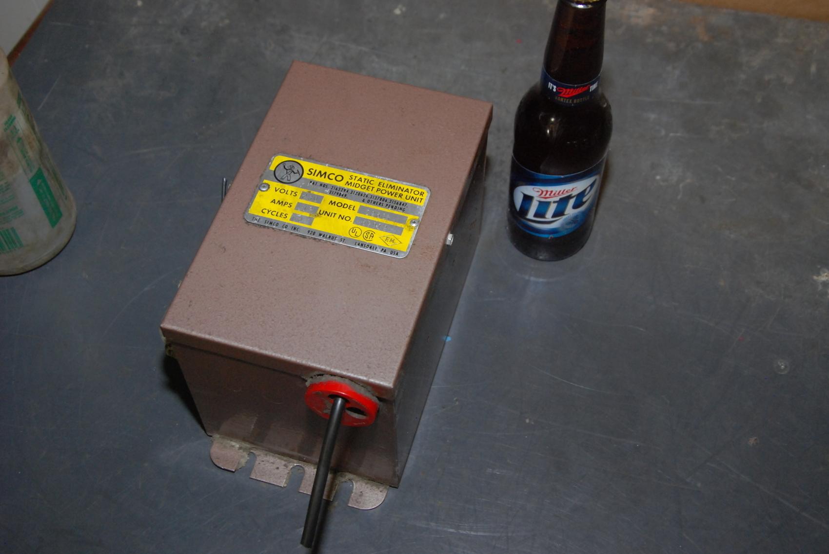 Simco D268R Static Eliminator Midget Power Unit