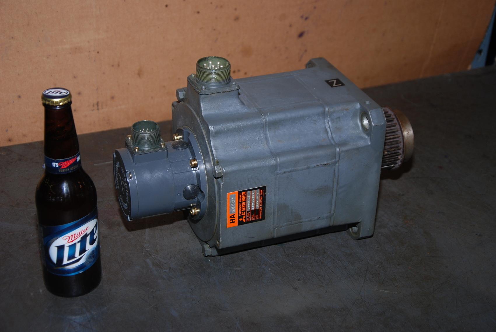 Mitsubishi HA100CS AC Servo Motor;w/Tamagawa ATT-A-11 Pickup unit