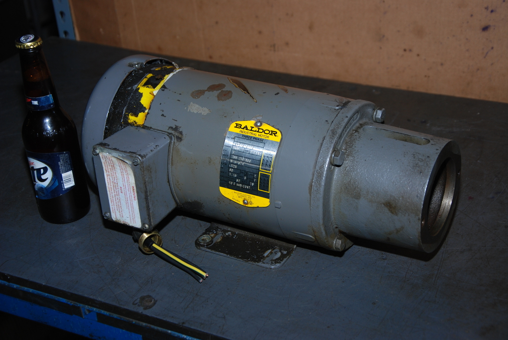 Baldor 3HP Electric Pump Motor with flange;Spec.35A13-2112;3PH;1725RPM