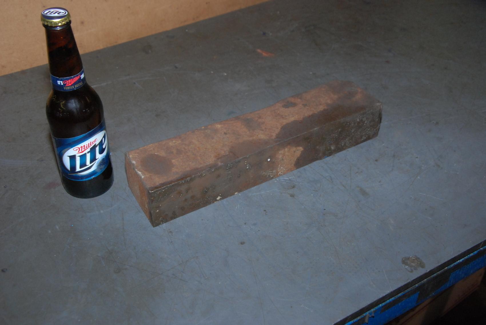 ONE steel Rectangular Bar for blacksmith anvil,23 lbs
