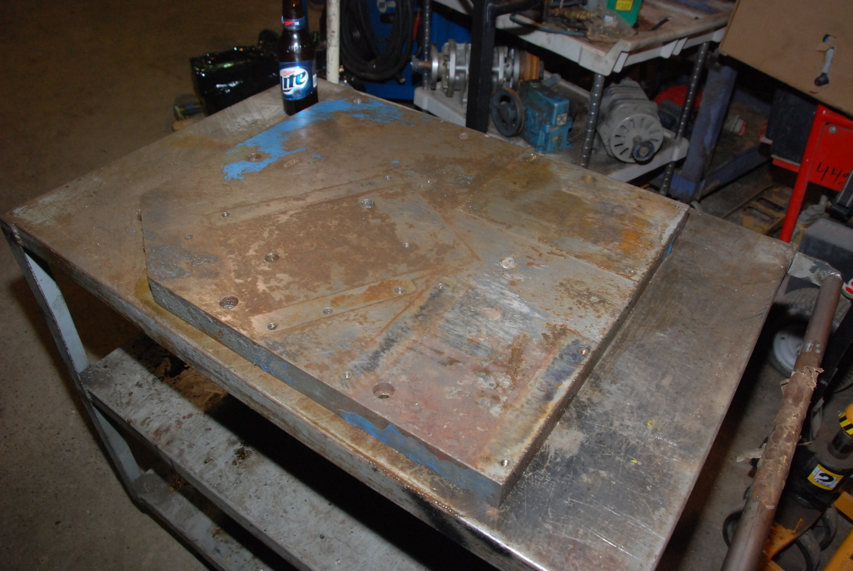 """ONE steel Plate for blacksmith anvil,197 lbs;23-1/2x20-1/2x1 1/2"""""""