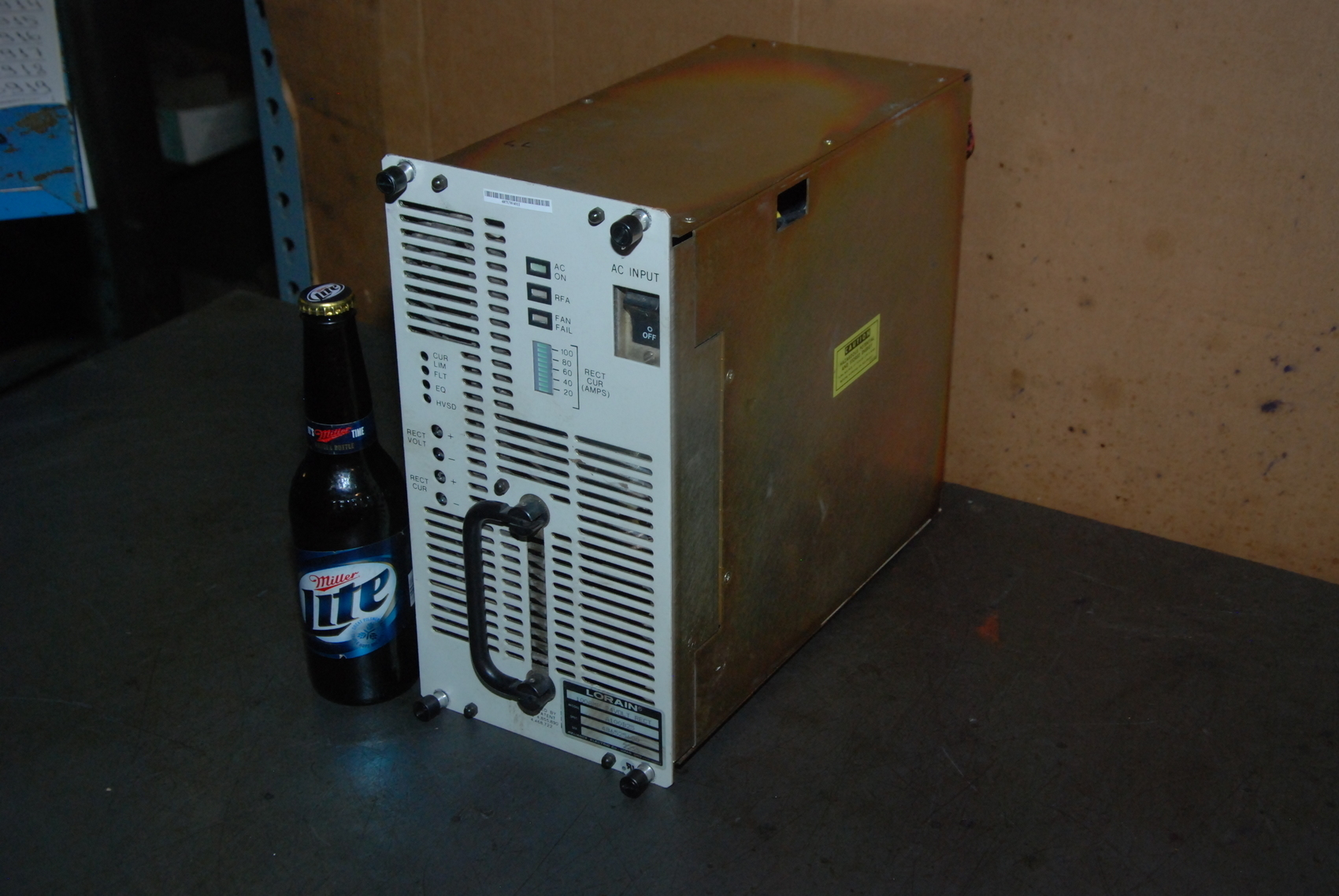 Lorain 100 Amp 24 Volt Rectifier Model A100B25 Spec 486525600