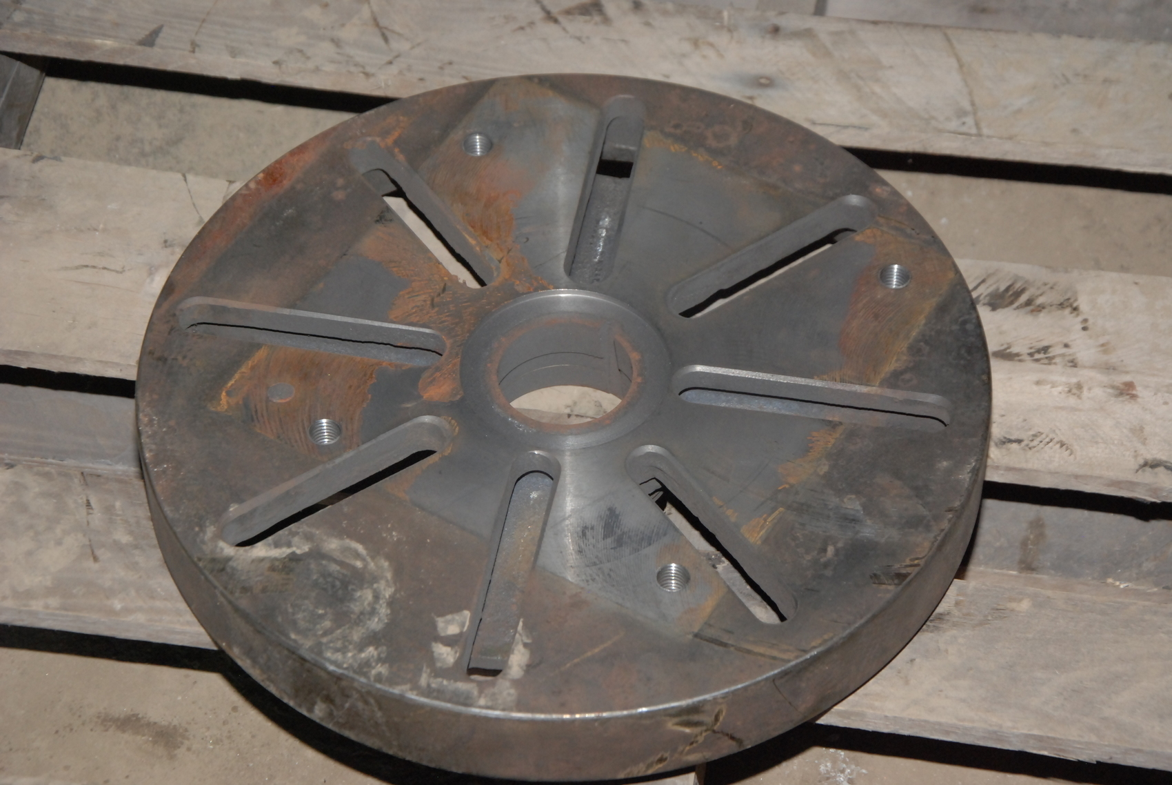 "16""Lathe faceplate;L0 mounting;D-9A-26 face dog plate"