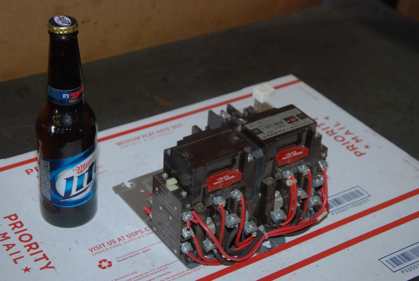 Cutler Hammer A50CNO Reversing Starter,SIZE 1,up to 10HP,coil110/120