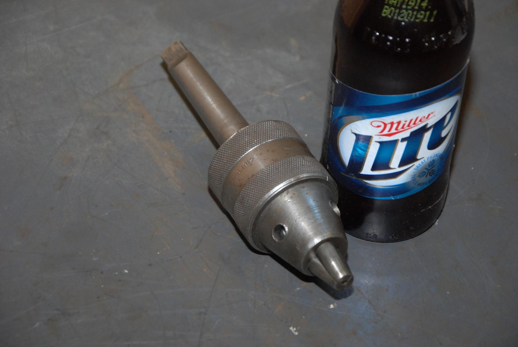 """Union mfg N106 Drill Chuck;0-3/8"""";MT#3 shank"""