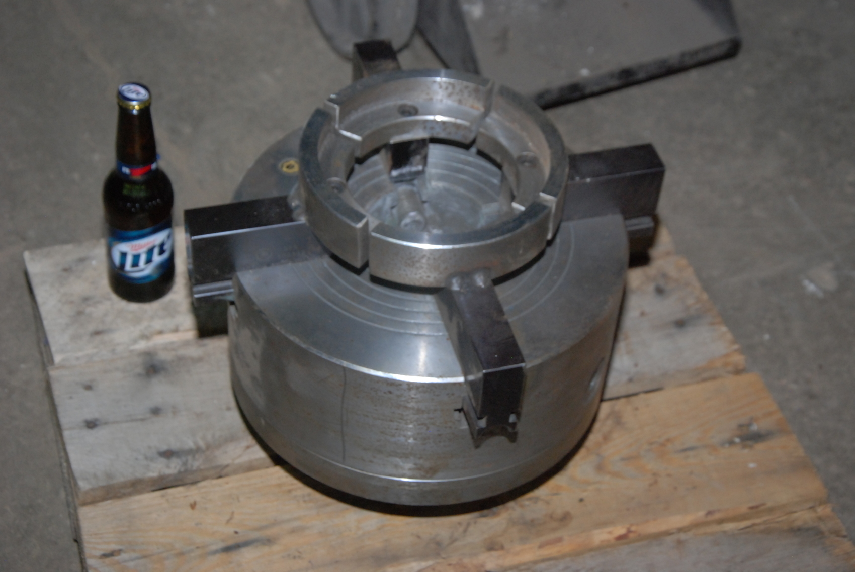 """Bison 4805 CNC 4-jaw Chuck;self centering;12-1/2""""diam;D1-6 mounting"""