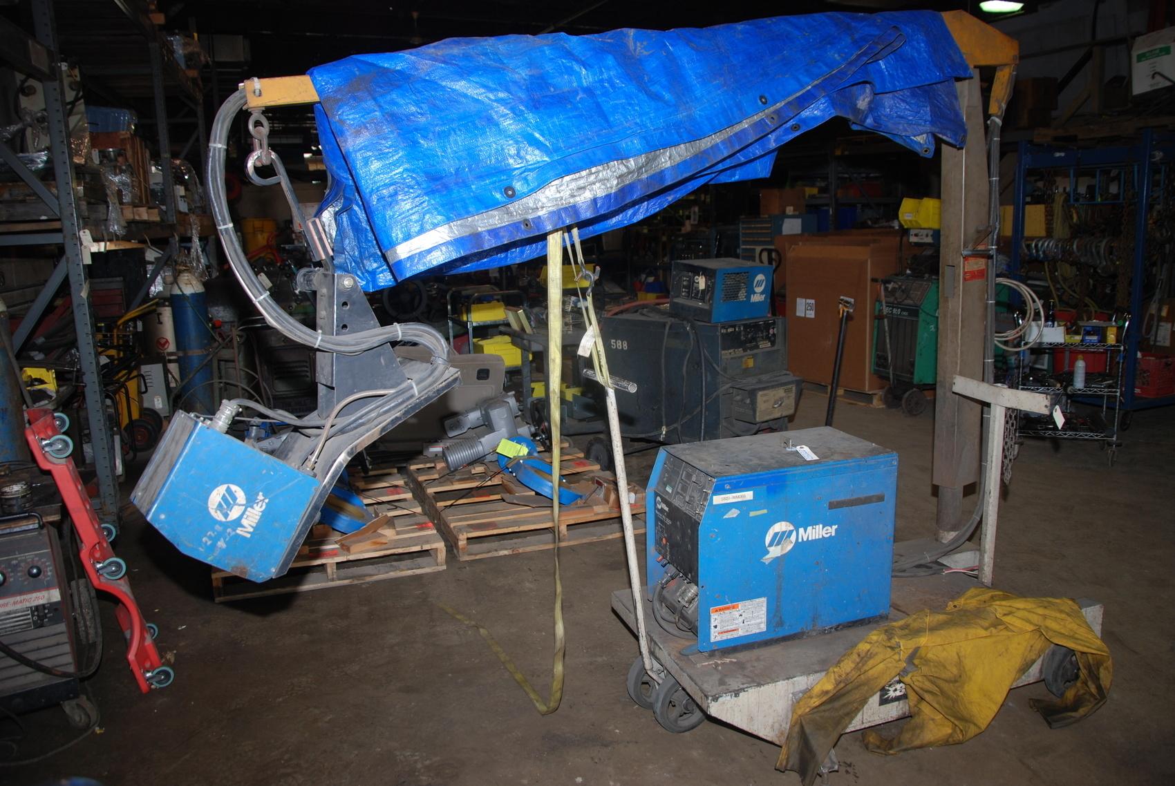 Miller Maxtron 450 Arc Welder w/S-64M Wire Feeder -- no welding cart