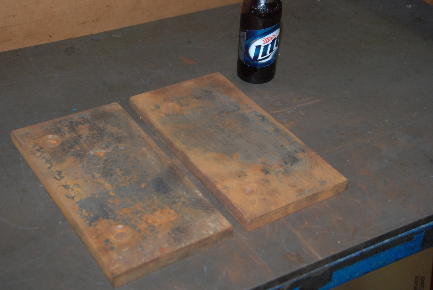 """Lot of 2 steel Plate for blacksmith anvil,39 lbs;11-7/8x6x3/4"""""""