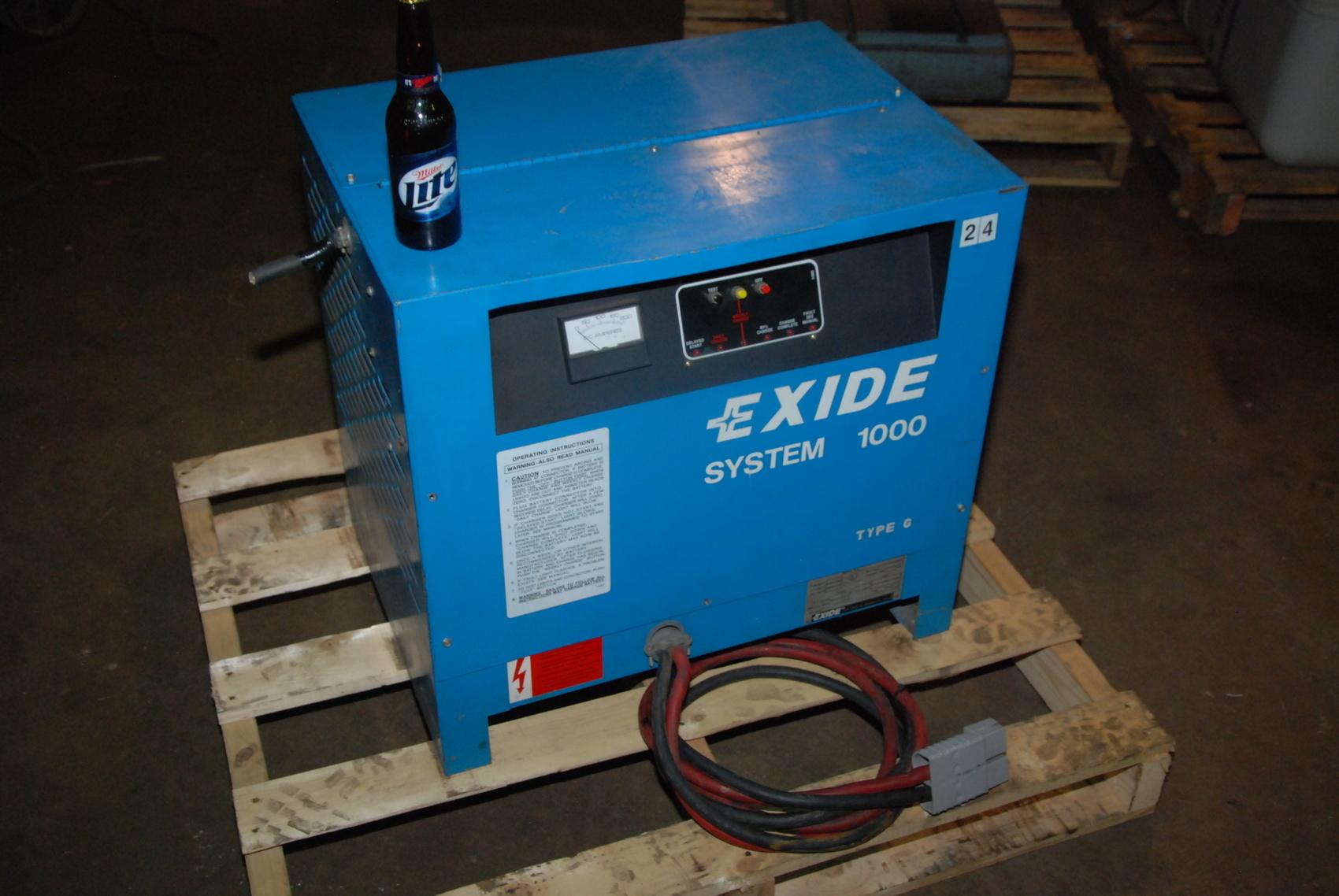Exide G1-12-775B forklift Battery Charger;24VDC output;143 Amps max