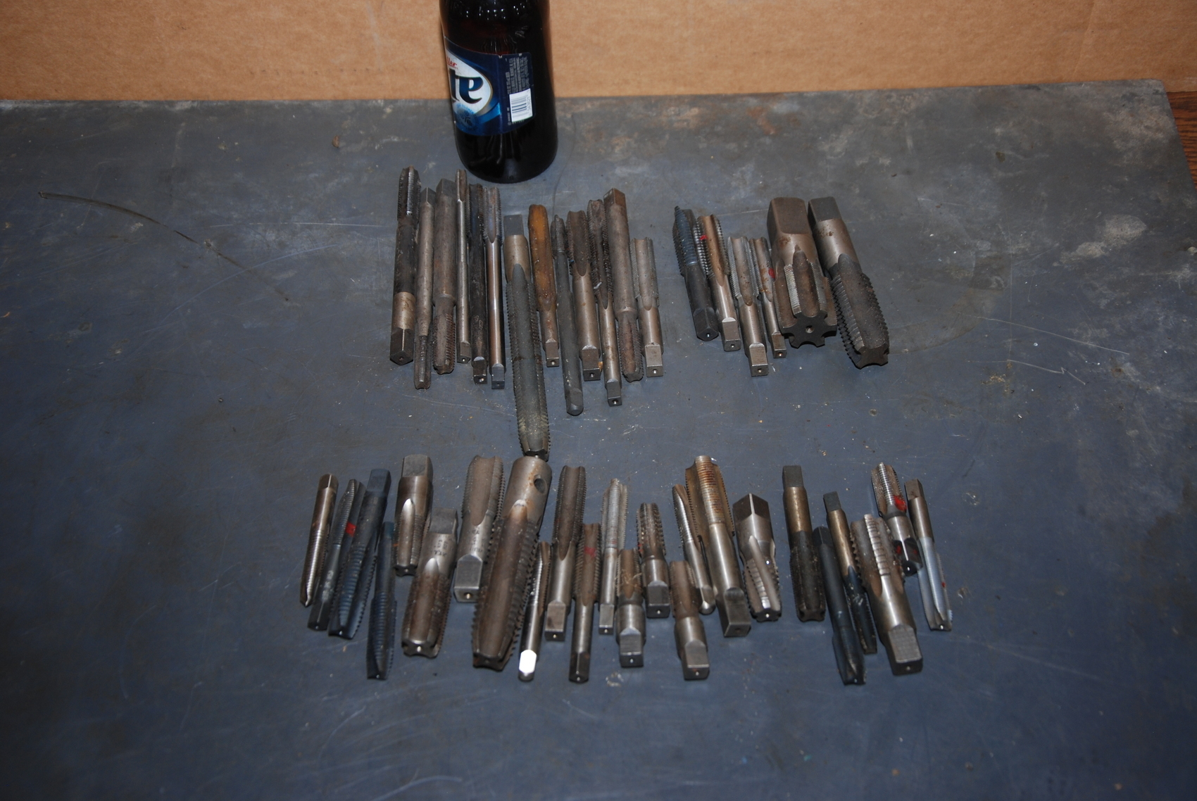 Lot of 45 Assorted HSS Taps;8lbs
