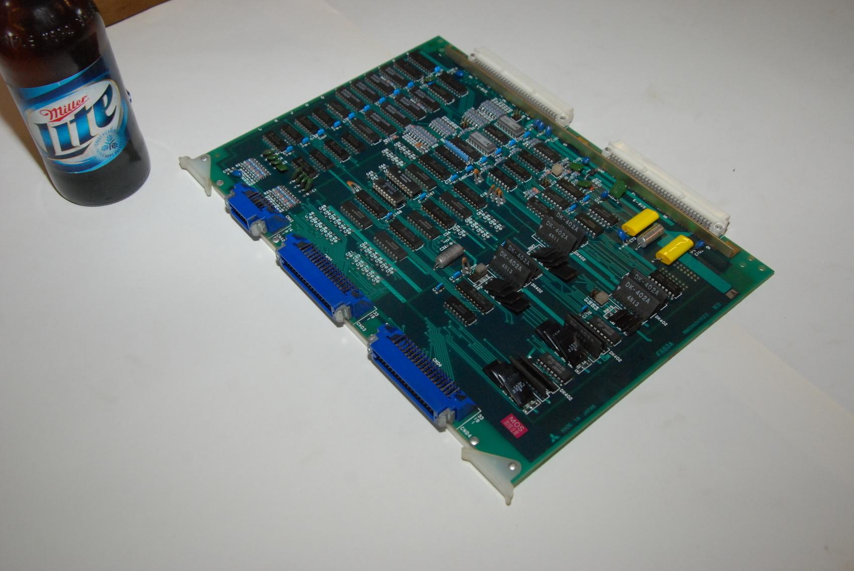 Mitsubishi FX63A BN624A241H02 Rev A Circuit Board CNC PLC Module