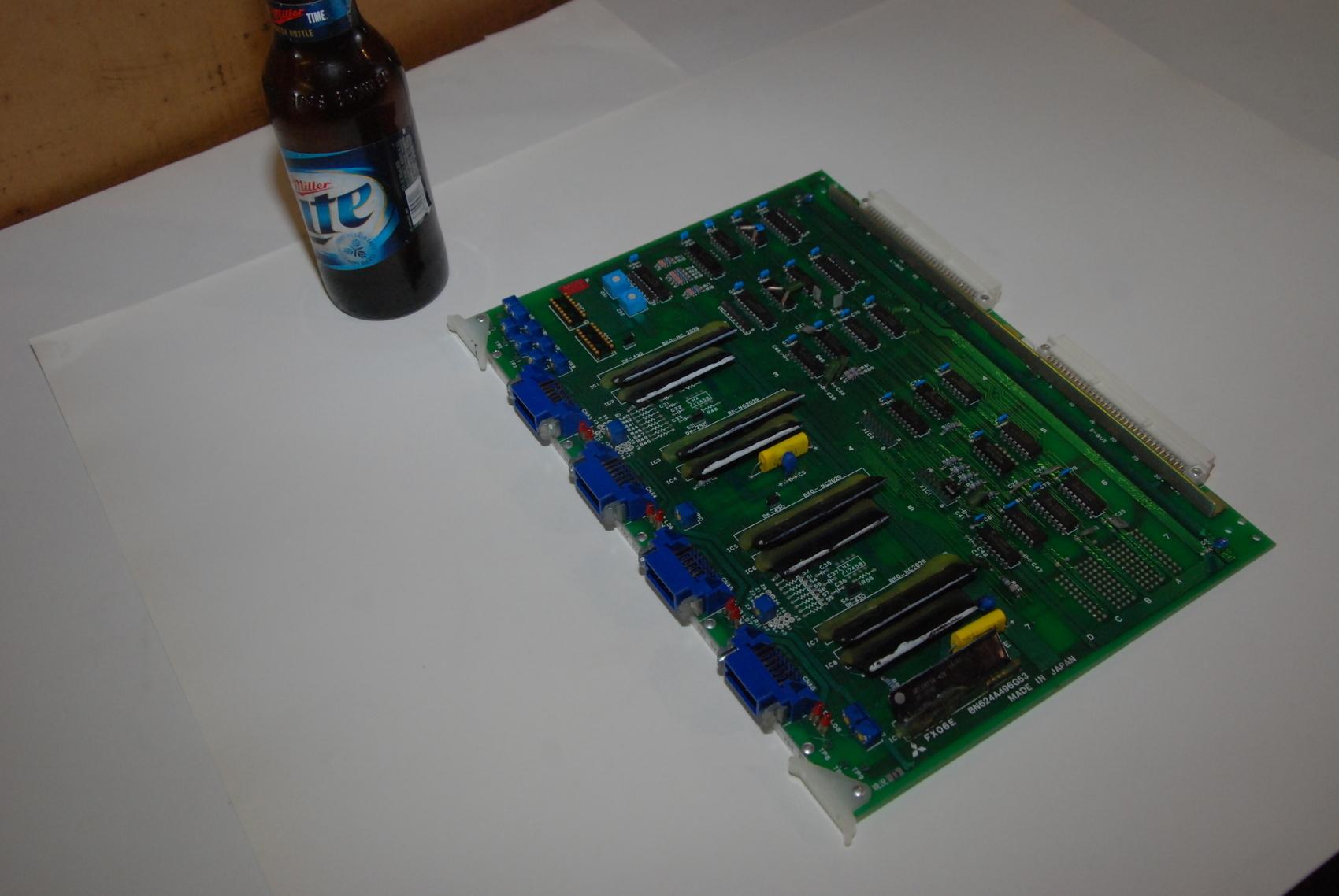 Mitsubishi FX06E BN624A496G53 Rev D Circuit Board CNC PLC Module