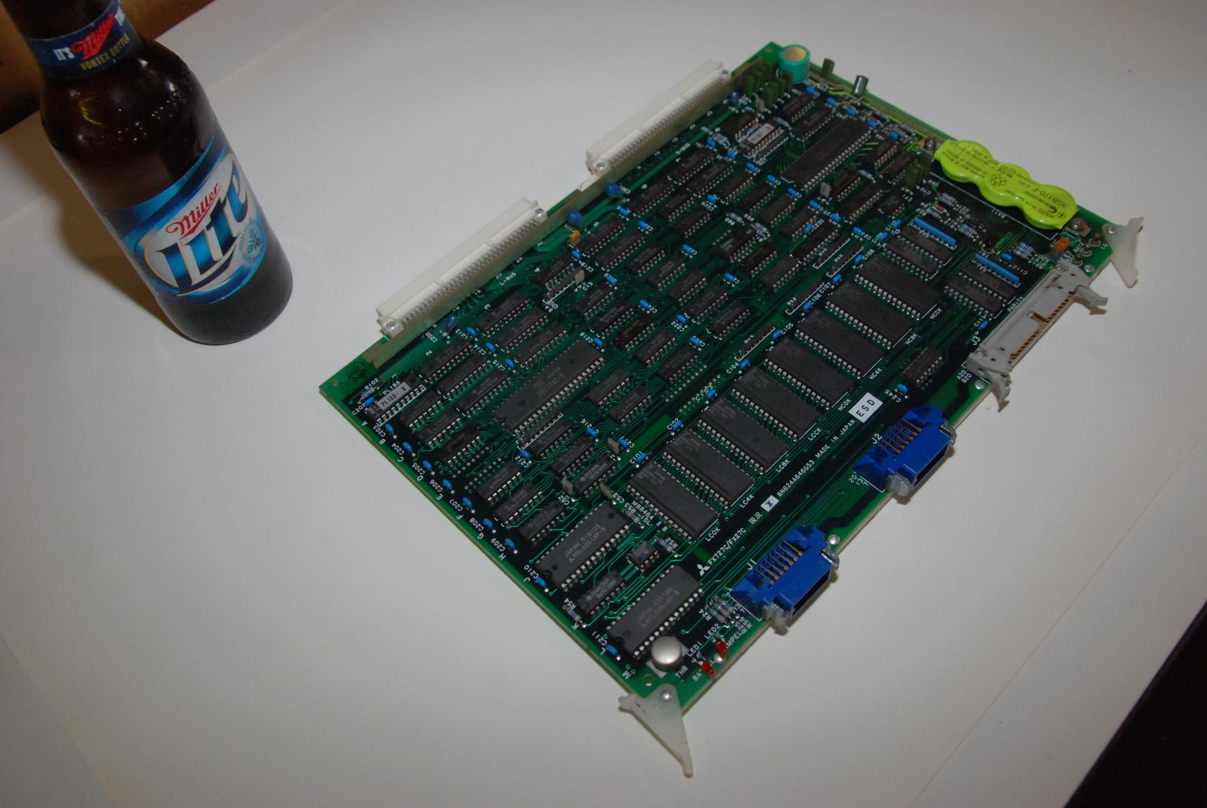 Mitsubishi FX727C/FX27C BN624A646G53 Rev*Circuit Board CNC PLC Mod