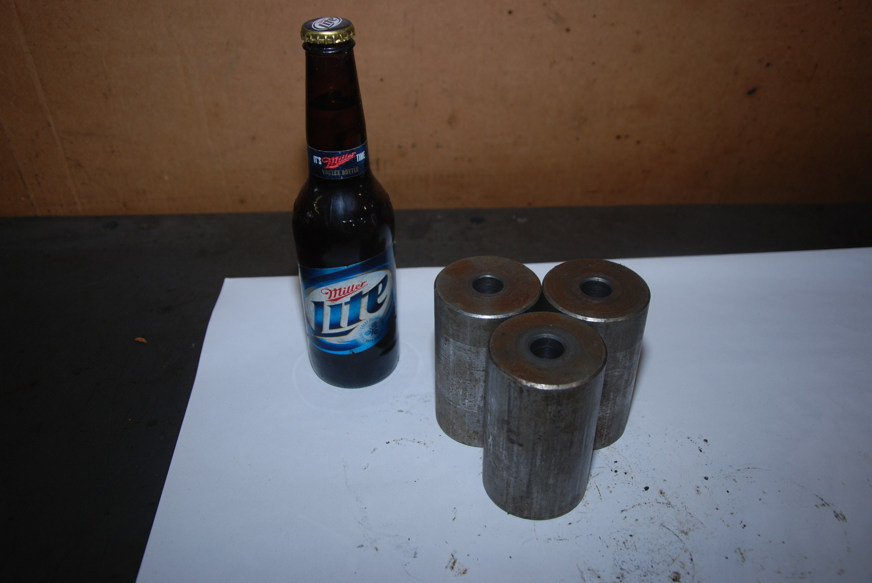 Lot of 3 Steel Cylinders with hole for blacksmith 13,5lbs