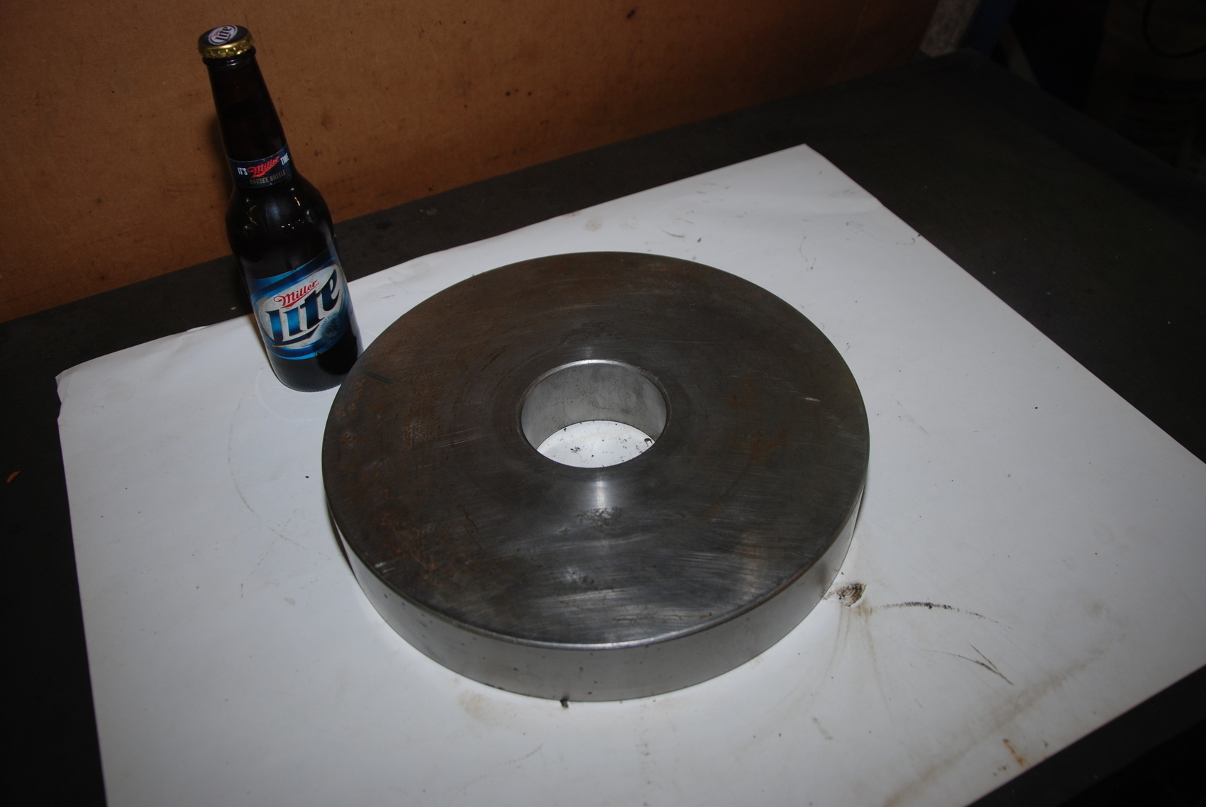 ONe Steel Round Bar for Blacksmith 56lbs;11 3/4x2 Inside Hole3 1/4x2