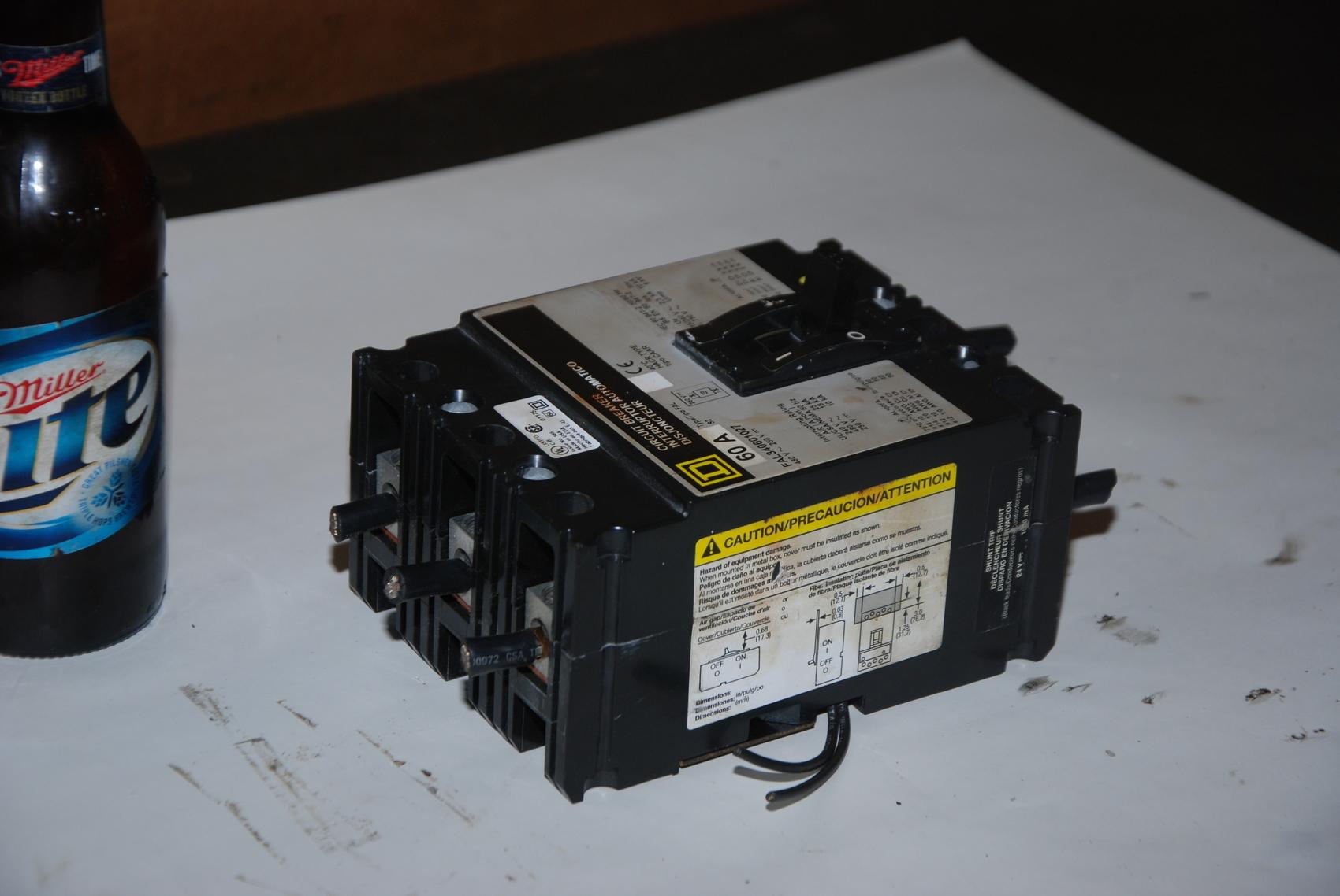 D FAL340601027 circuit Breaker 250V 480V 60A