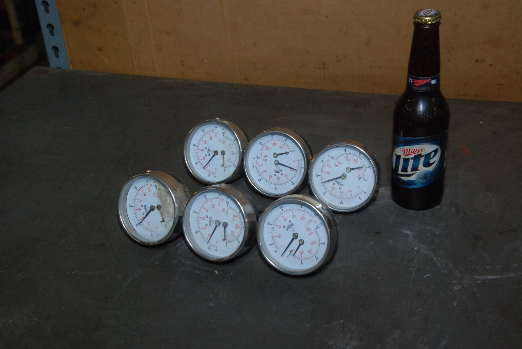 Lot of 7 Winters Instruments Pressure System Tridicator gauge